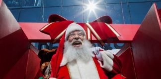 Papai Noel chega ao Natal do Golden Square Shopping