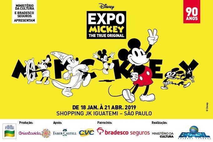 7f10b29d04f Exposição inédita em São Paulo celebra os 90 anos de Mickey Mouse