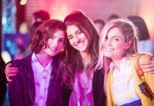 Personagens: Celeste, Bia e Chiara | Atrizes: Agustina Palma, Isabela Souza, Giulia Guerrini